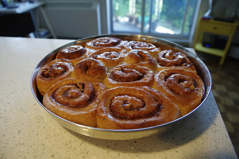 Look at these glorious cinnamon rolls!